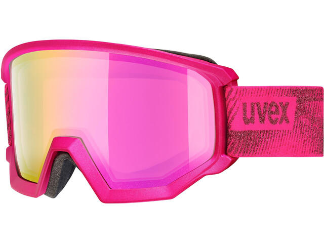 UVEX Athletic FM Gafas, pink mat/fullmirror pink